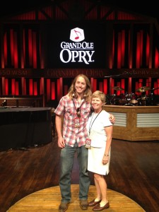 Hanging center stage at The Grand Ole Opry with mom.
