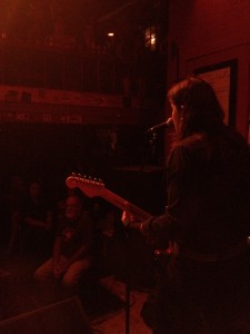Katie Colpitts digging deep for a packed house last night at The Hotel Utah Saloon in San Francisco, CA.