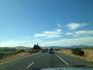 En route to Sacramento, CA to perform at Naked Lounge on Friday, August 3rd, 2012. Lovin' this open country, hatin' this traffic...