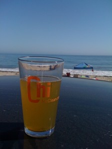 A pic sent from my buddy Jon from his beachside perch somewhere in Santa Barbara, CA.