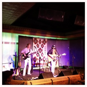 "Stephen Styles and ""Vince"" ripping up the stage, country-style, at Ranch & Reata Roadhouse last night."