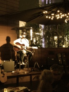 Brett Young ripping it up at Sonoma Wine Garden in Santa Monica, CA.