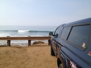 One of the many small, but really shapely days on the southern Cali coast. You get points if you can name this spot.