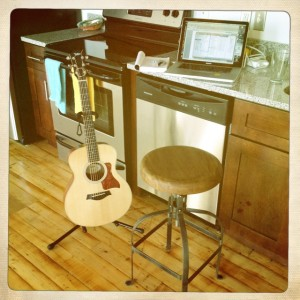 Writing at home here in Nashville, TN with Taylor Guitars GS Mini.