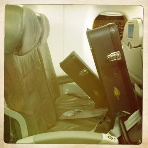 I swear... sometimes these guitars get better treatment and more attention than I do! My ladies traveling in style...