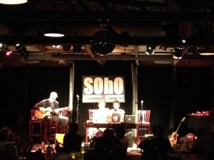 Will Champlin (on keys) closing out the night at SOhO in Santa Barbara, CA after my set on Tuesday, June 11th. Amazing...