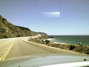 Cruising the California Highway 1 through Malibu in search of a wave.