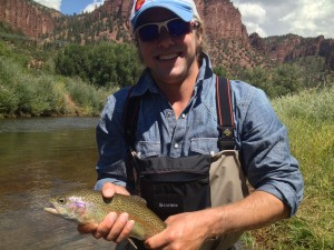 A small but colorful catch on the Frying Pan in Basalt, CO while fishing with my dad and my friend (and guide) Woody Kiehl.