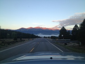 Kicking off at 4:30 AM makes for a sleepy, but beautiful drive through Leadville, Colorado en route to Santa Fe, New Mexico..