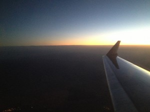 Sunrise a little after 6:00 AM somewhere over New Mexico, courtesy of American Airlines at 32,000'..