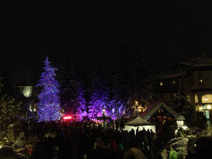 Annual tree lighting ceremony in Vail, CO.