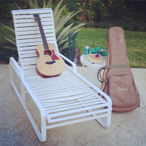 My Taylor Guitars GS Mini soaking in the sun down in Florida.