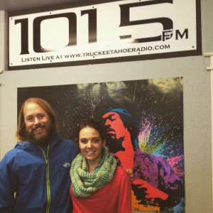 Hanging with 101.5 FM KTKE On-Air Host, Katie Mac after the show.