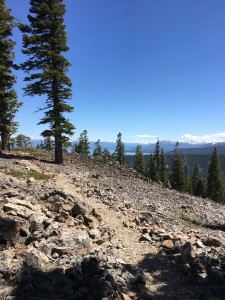Beautiful views of Lake Tahoe on a mountain bike on the Tahoe Rim Trail.